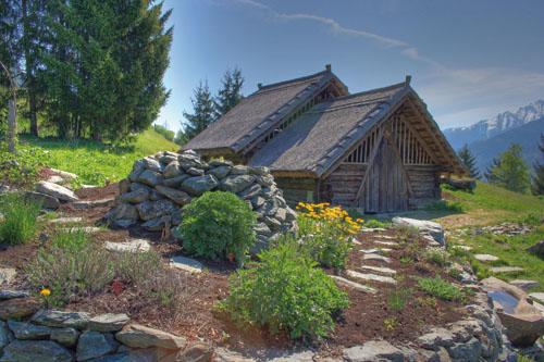 Keltská vesnička