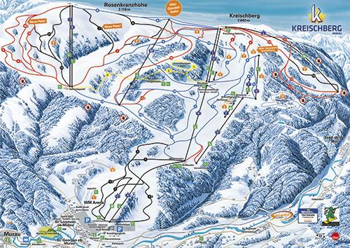 Mapa Kreischberg