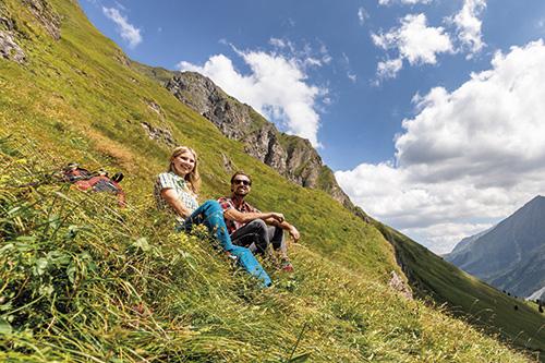 Letní čas na alpských pastvinách
